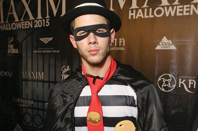 halloween dress of Nick Jonas in 2015