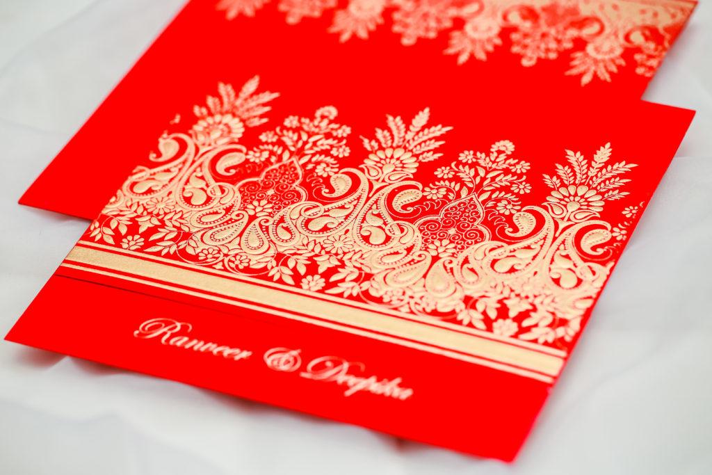 Christmas Inspired Red wedding invitation by 123WeddingCards