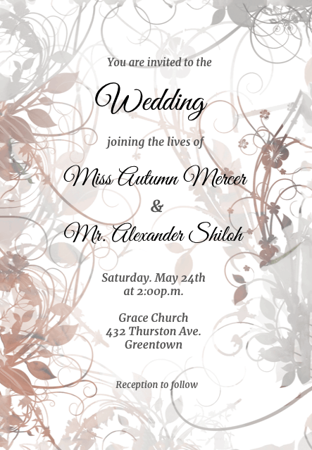 The Wedding Date-Wedding Invitation-123WeddingCards