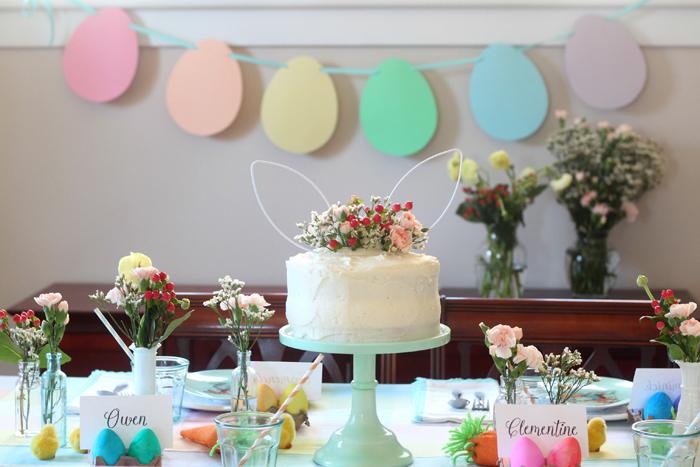 Easter inspired wedding cake