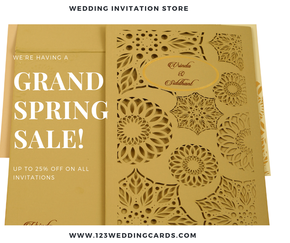 Grand Spring offer on wedding cards - 123WeddingCards