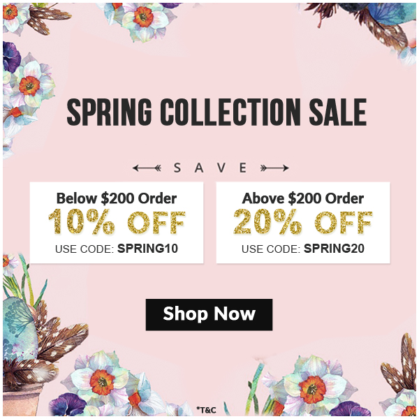 Spring Collection Sale 2019, Up to 20% Off on wedding cards- 123WeddingCards