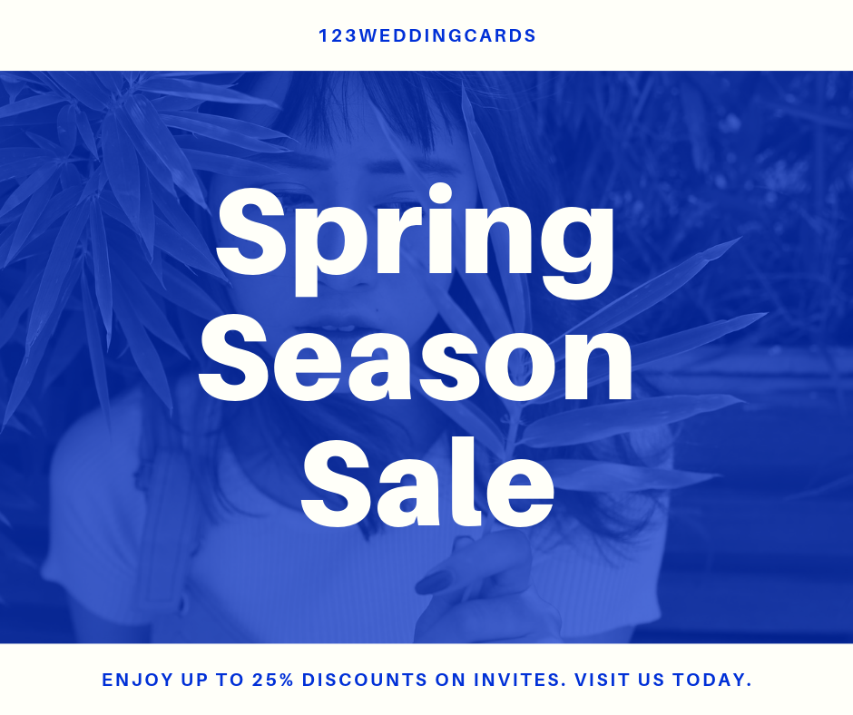 spring season sale 2019 - 123WeddingCards