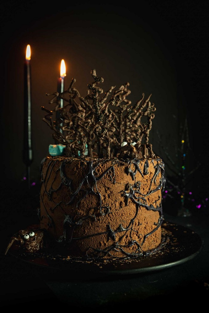 Freaky forest pudding cake