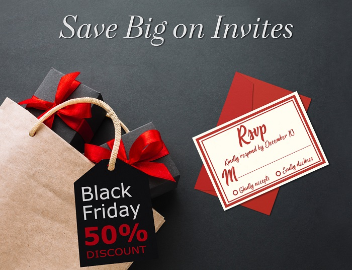 Save big on wedding invitation cards this Black Friday