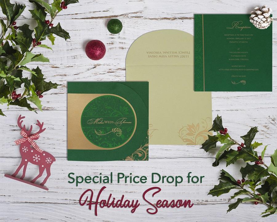 123WeddingCards Holiday Sale - Save 40% on Wedding Invitation Cards