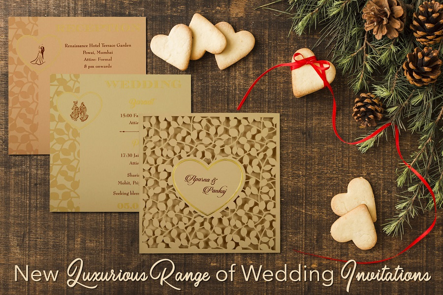 Christmas Pine inspired wedding invitation