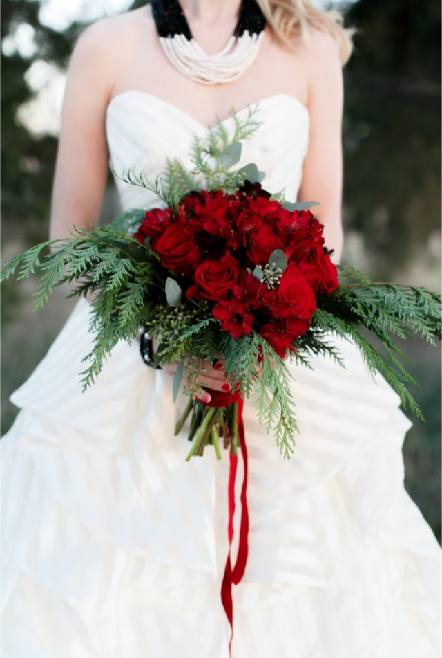Christmas Theme Wedding bridal bouquet - 123WeddingCards