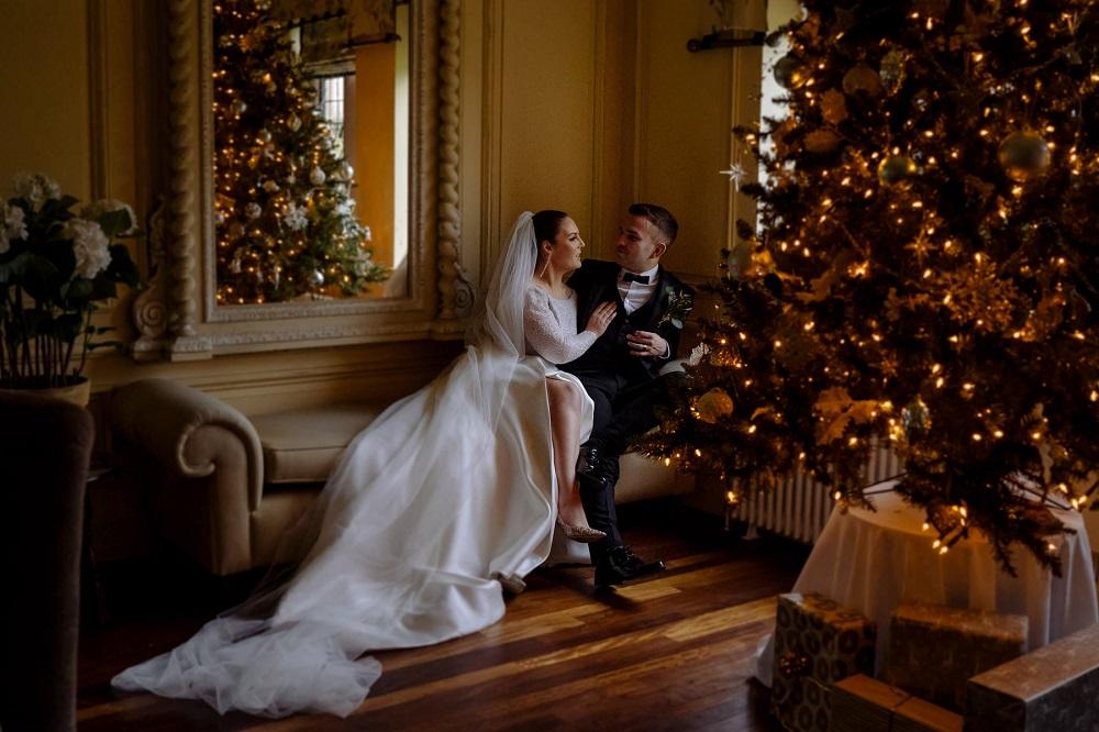 Christmas tree at wedding venue - 123WeddingCards