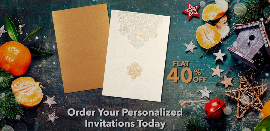 Holiday invitations to get your nuptial merrier