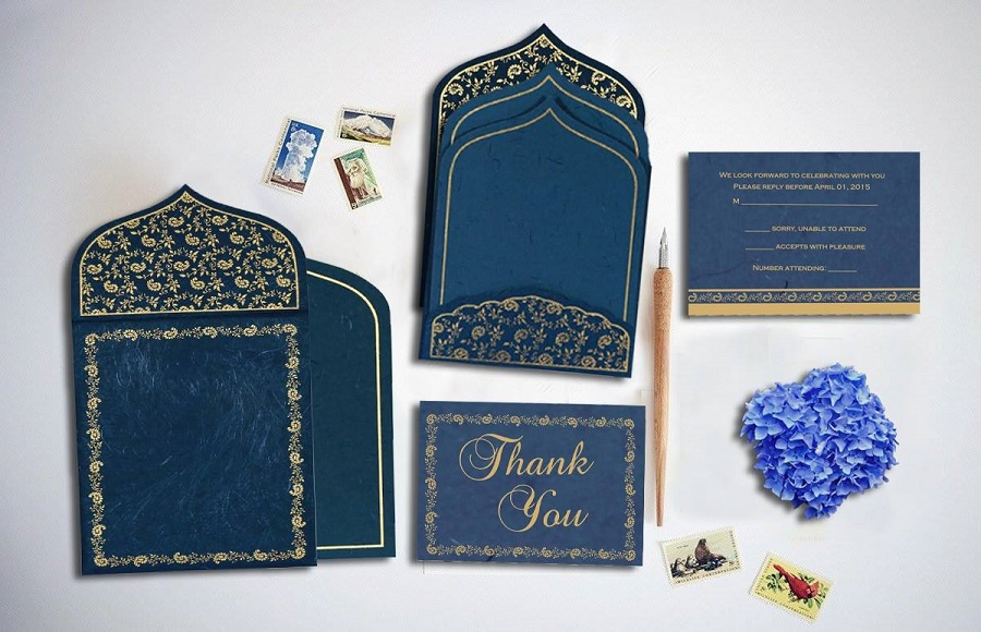 Sparkle frost inspired wedding invitation by 123WeddingCards