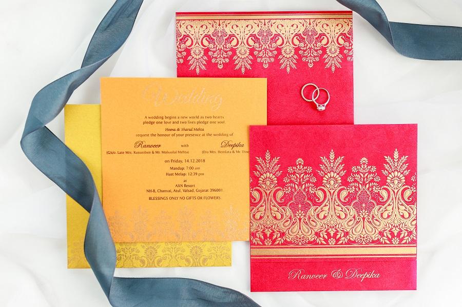 Wedding invitation for Valentines day weddings - 123WeddingCards