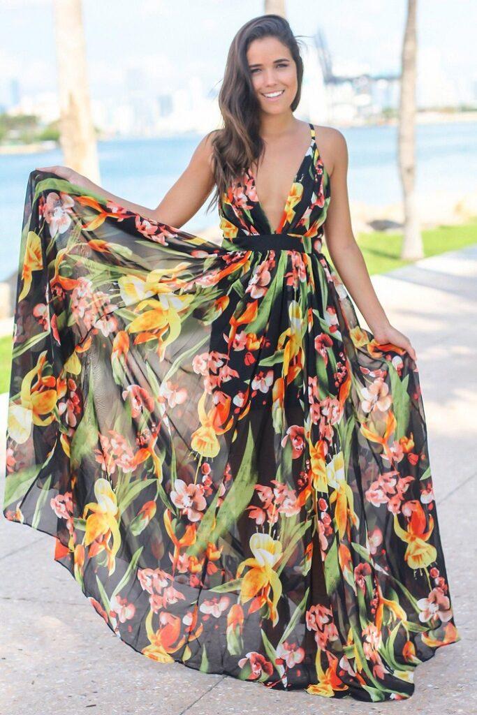 Slinky lush floral prints