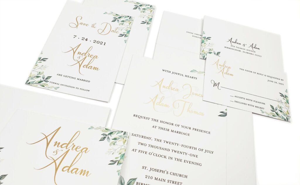 Finalize Wedding Invitation Enclosure Cards