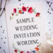 Wedding Wording Samples & Ideas For Indian Wedding Invitations