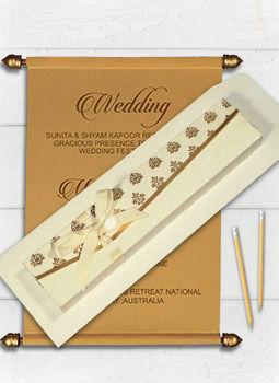 Scroll Wedding Cards-123WeddingCards