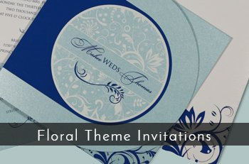 Floral Theme Invitations - 123WeddingCards