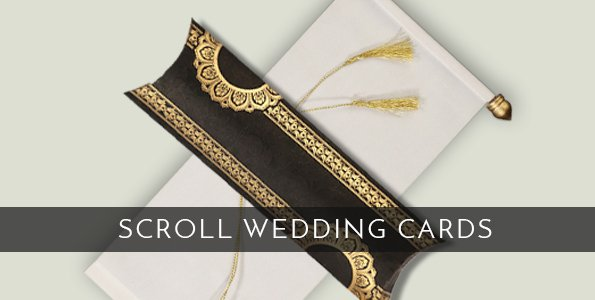 Royal Wedding Invitations - Scroll Cards