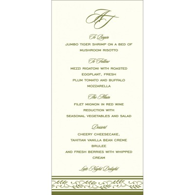 Menu Cards MENU-8202C - 123WeddingCards