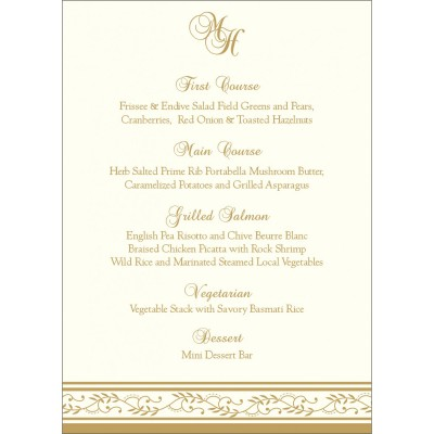 Menu Cards MENU-8202D - 123WeddingCards