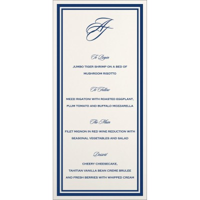 Menu Cards MENU-8203B - 123WeddingCards