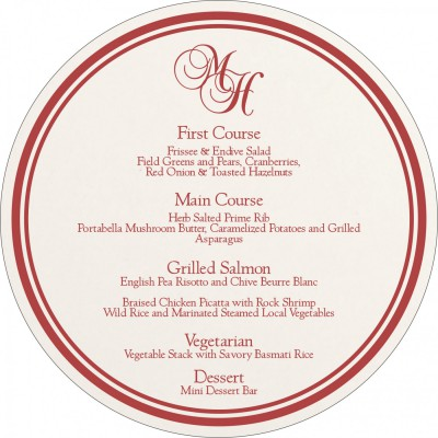 Menu Cards MENU-8203C - 123WeddingCards