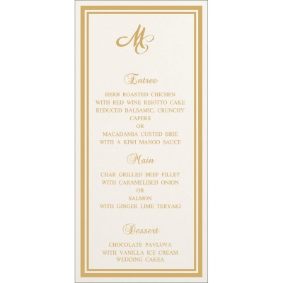 Menu Cards MENU-8203E - 123WeddingCards