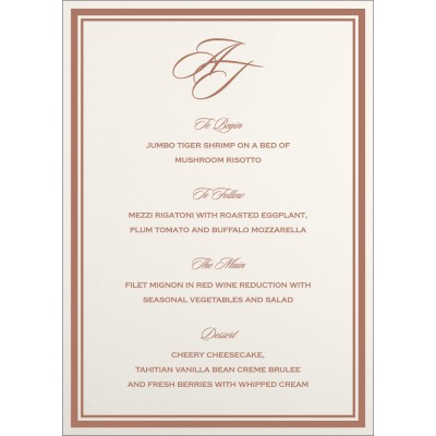 Menu Cards MENU-8203G - 123WeddingCards