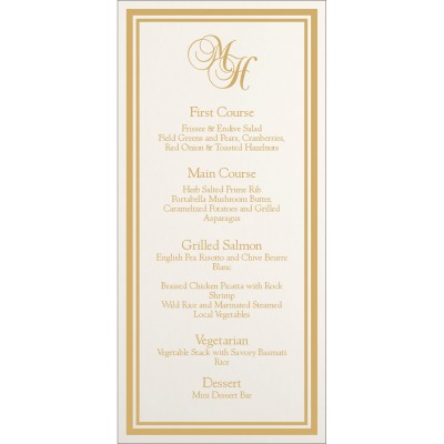 Menu Cards MENU-8203H - 123WeddingCards