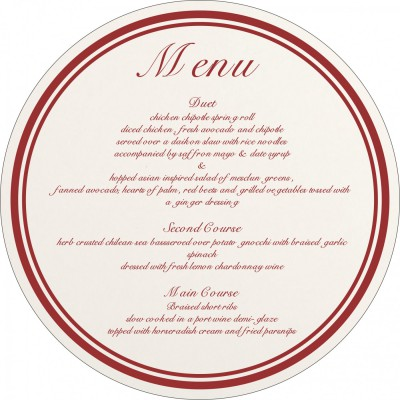 Menu Cards MENU-8203J - 123WeddingCards