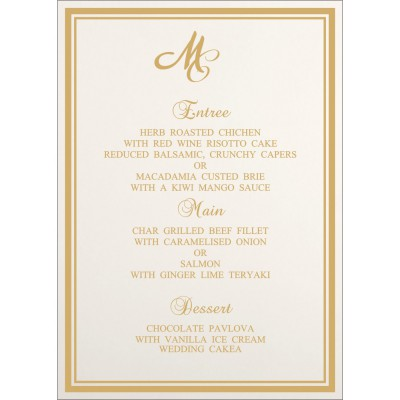 Menu Cards MENU-8203K - 123WeddingCards
