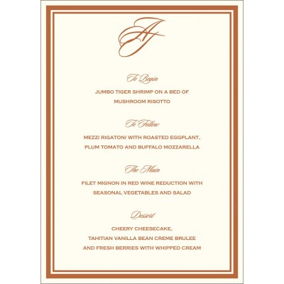 Menu Cards MENU-8204A - 123WeddingCards