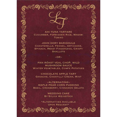 Menu Cards 588 - 123WeddingCards