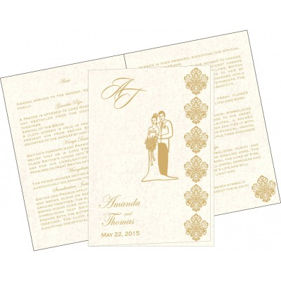 Program Booklets 7159 - 123WeddingCards