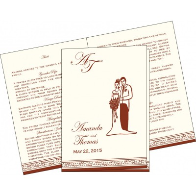 Program Booklets PC-8202A - 123WeddingCards