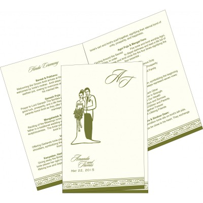 Program Booklets PC-8202C - 123WeddingCards