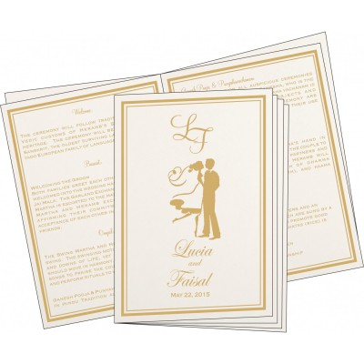 Program Booklets PC-8203F - 123WeddingCards