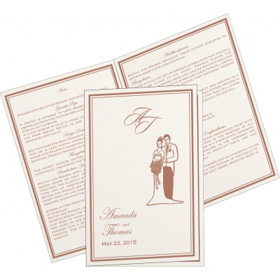 Program Booklets PC-8203G - 123WeddingCards