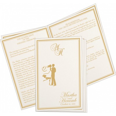 Program Booklets PC-8203H - 123WeddingCards