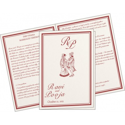 Program Booklets PC-8203J - 123WeddingCards