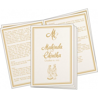Program Booklets PC-8203K - 123WeddingCards