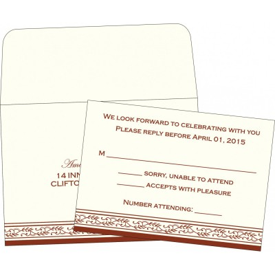 RSVP Cards RSVP-8202A - 123WeddingCards