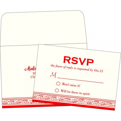 RSVP Cards RSVP-8202H - 123WeddingCards