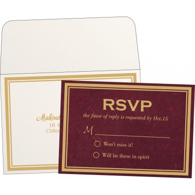 RSVP Cards RSVP-8203K - 123WeddingCards