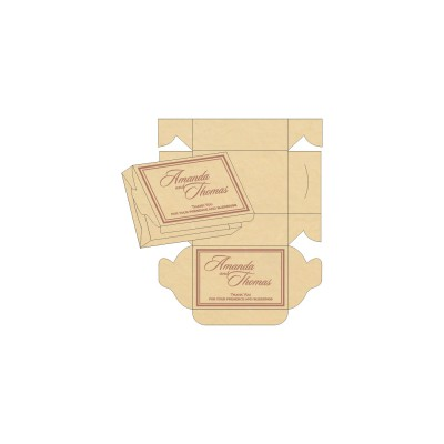 Cake Sweet Boxes SB-8203G - 123WeddingCards