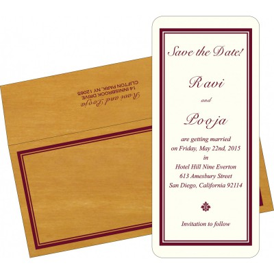 Save The Date Cards STD-8204D - 123WeddingCards