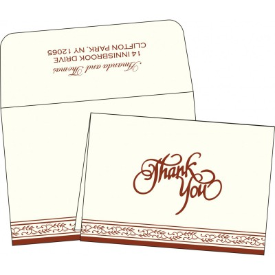 Thank You Cards TYC-8202A - 123WeddingCards