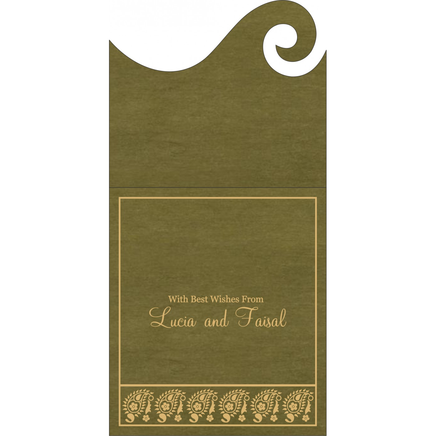 Money Envelopes : ME-8218A - 123WeddingCards