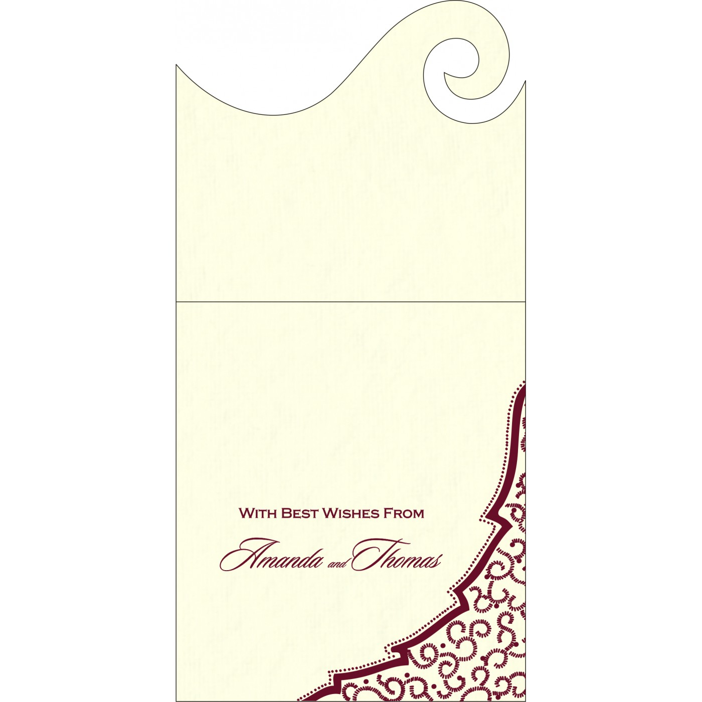 Money Envelopes : ME-8219L - 123WeddingCards