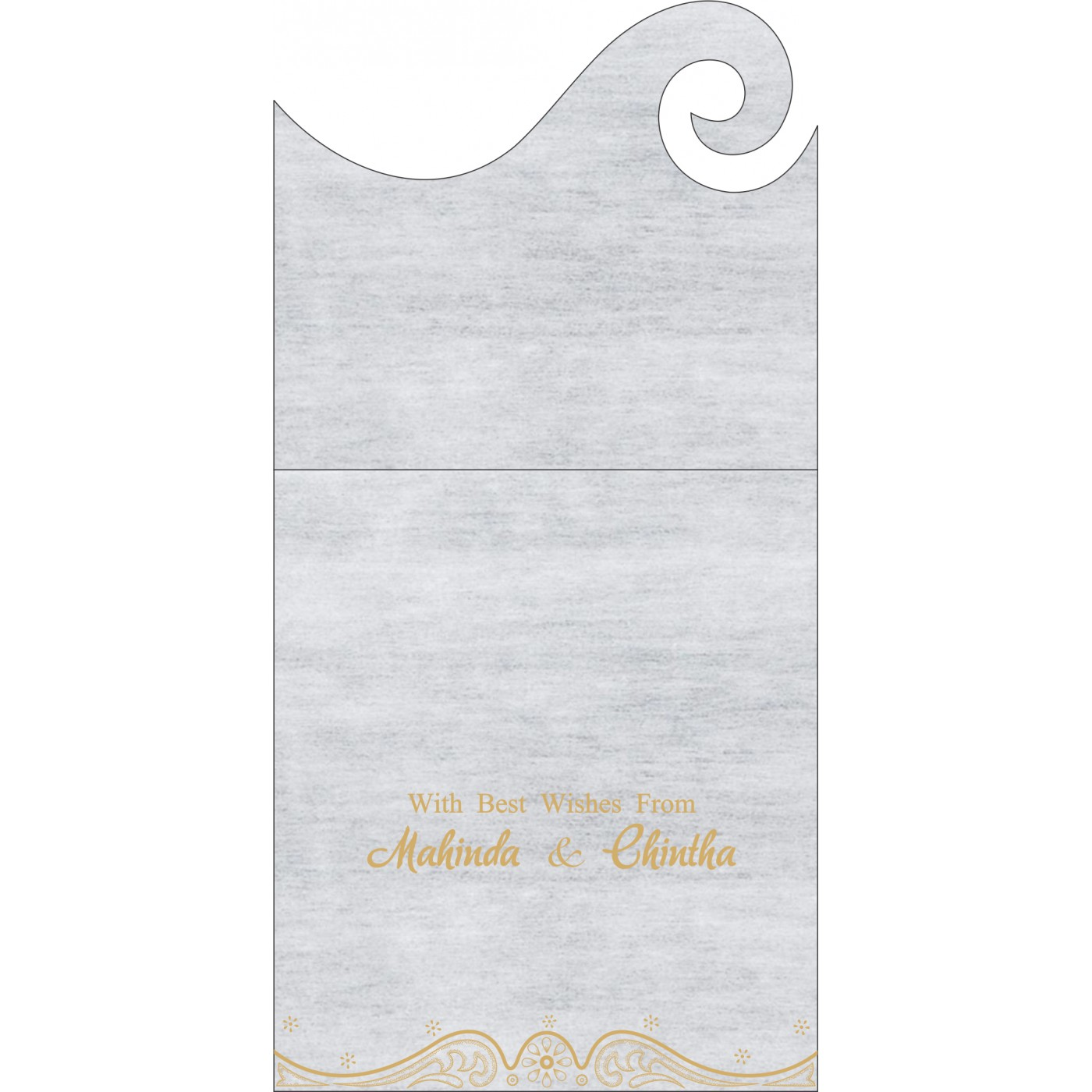 Money Envelopes : ME-8221G - 123WeddingCards